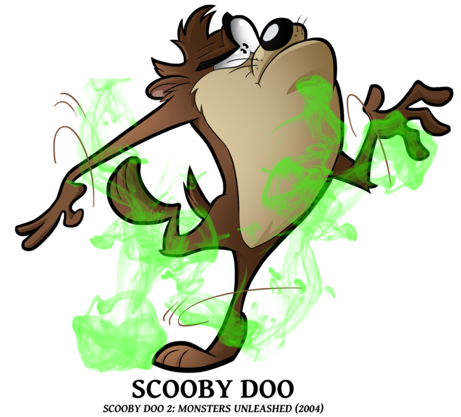 Scooby doo clipart christmas png.  turned into tasmanian