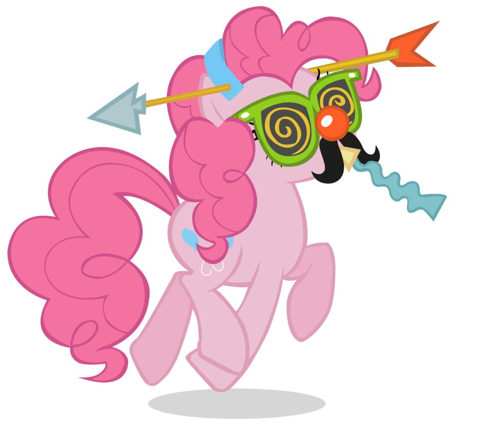 Wednesday clipart wacky outfit. Crazy pinkie pie by