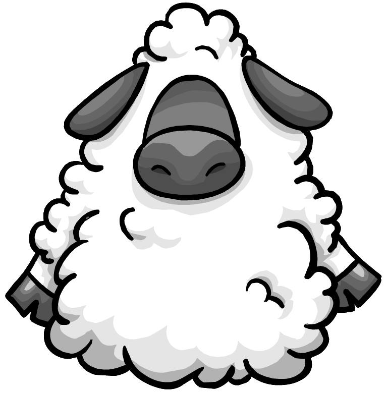Fart clipart sheep. Big bad wool suit