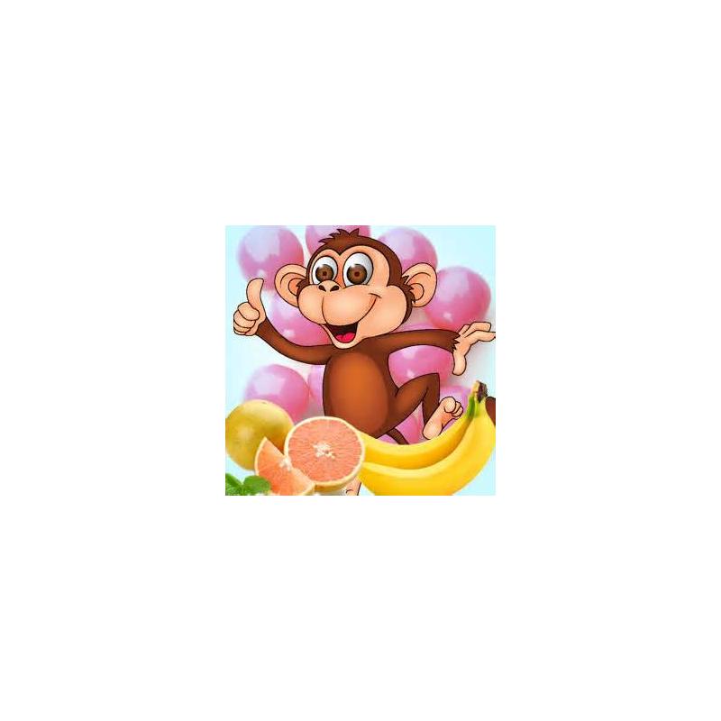 Monkey farts stick incense. Fart clipart stock photo
