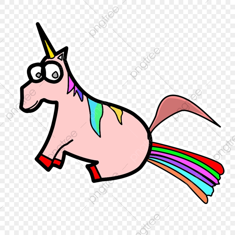 Unicorn funny png . Fart clipart transparent