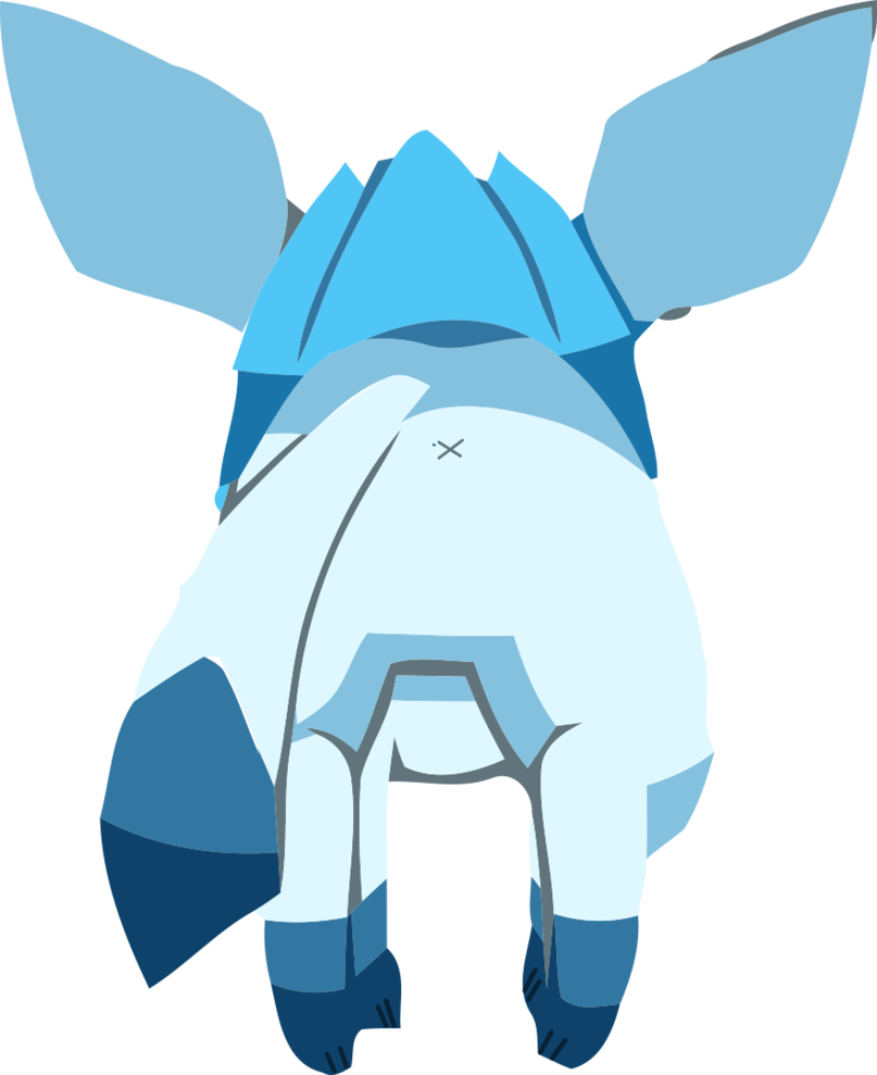 Glaceon butt by coolperez. Fart clipart vector