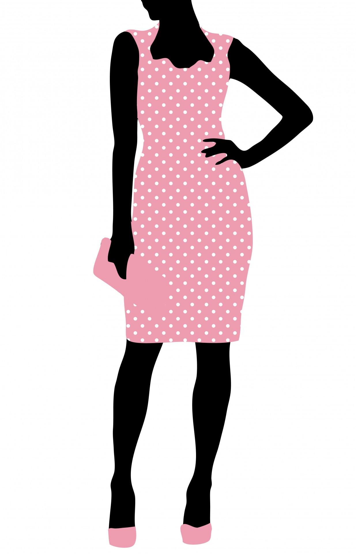 Fashion clipart. Woman free stock photo
