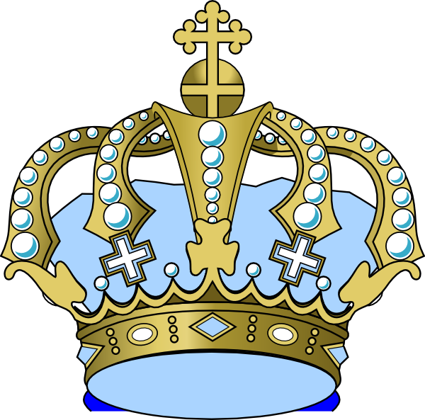 Baby blue clip art. Wing clipart crown