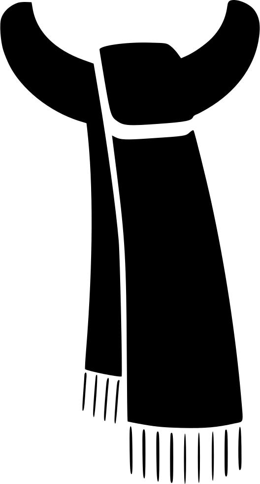 Outline clipart scarf. Blackscarf png image purepng