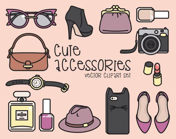Premium vector pretty accessories. Fashion clipart cute
