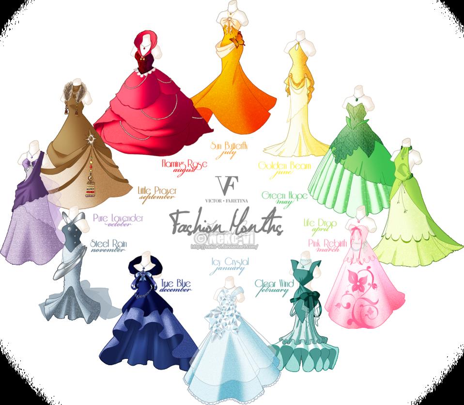 Fashion clipart design fashion. Months by neko vi