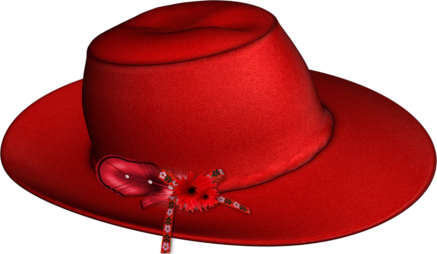 Fashion clipart fancy hat. Red png image purepng