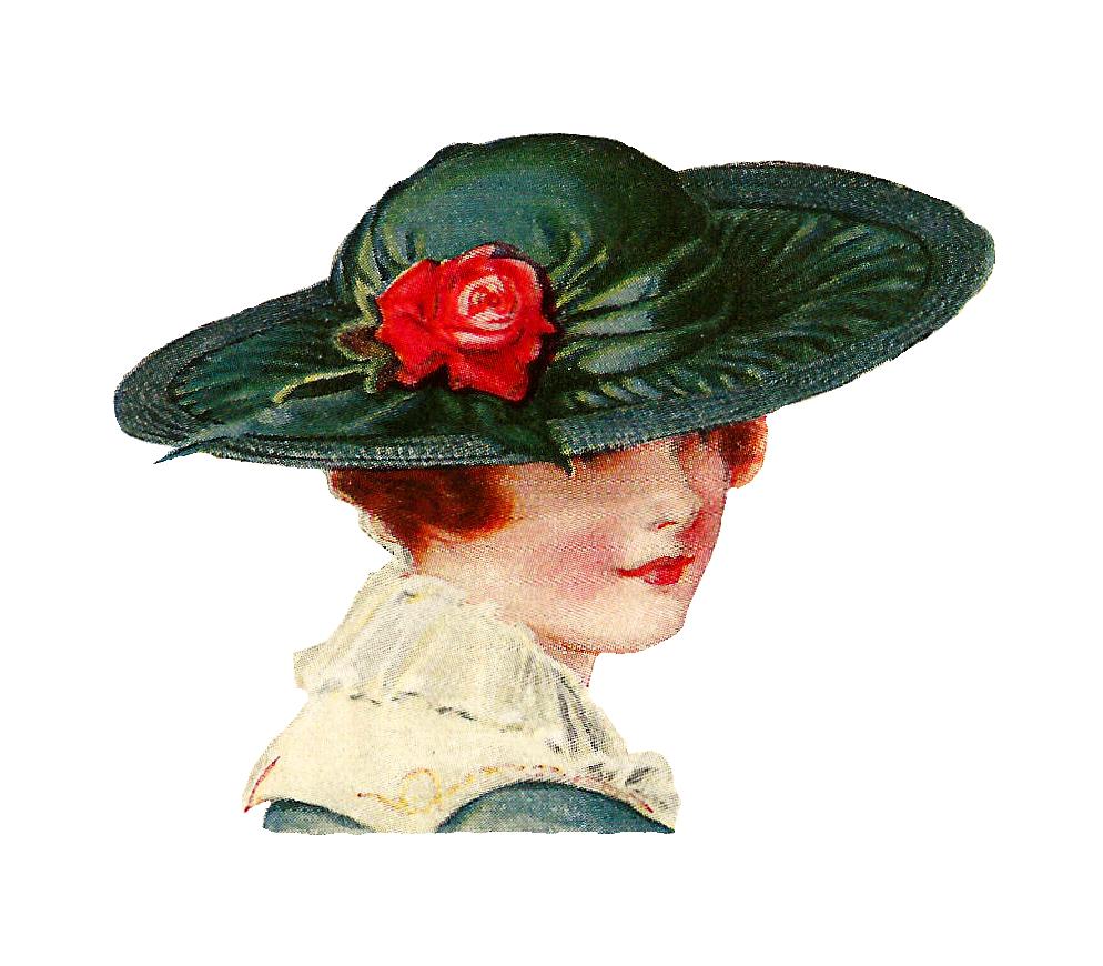 Fashion clipart fancy hat. Antique images free clip