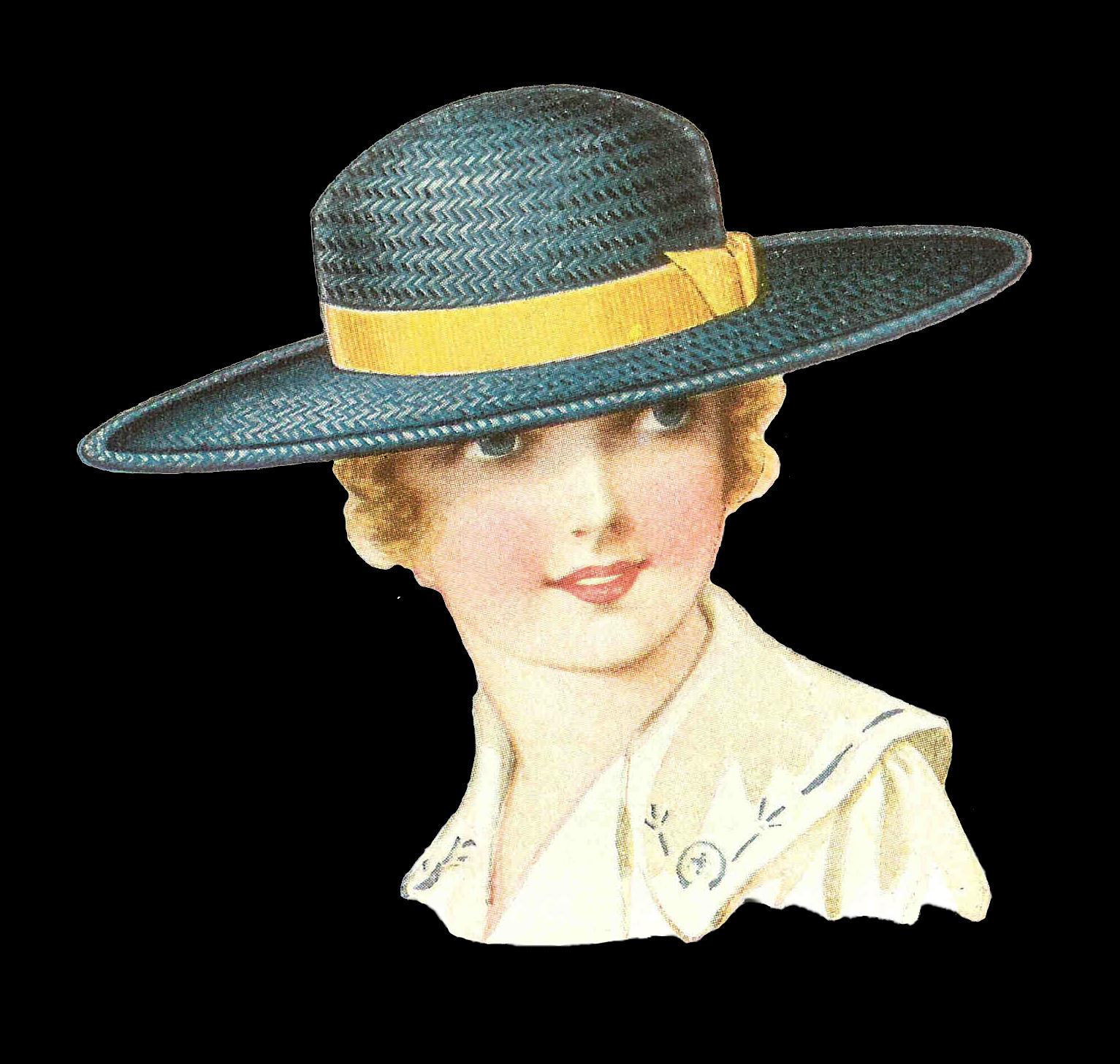 Fashion clipart fancy hat. Antique images july this