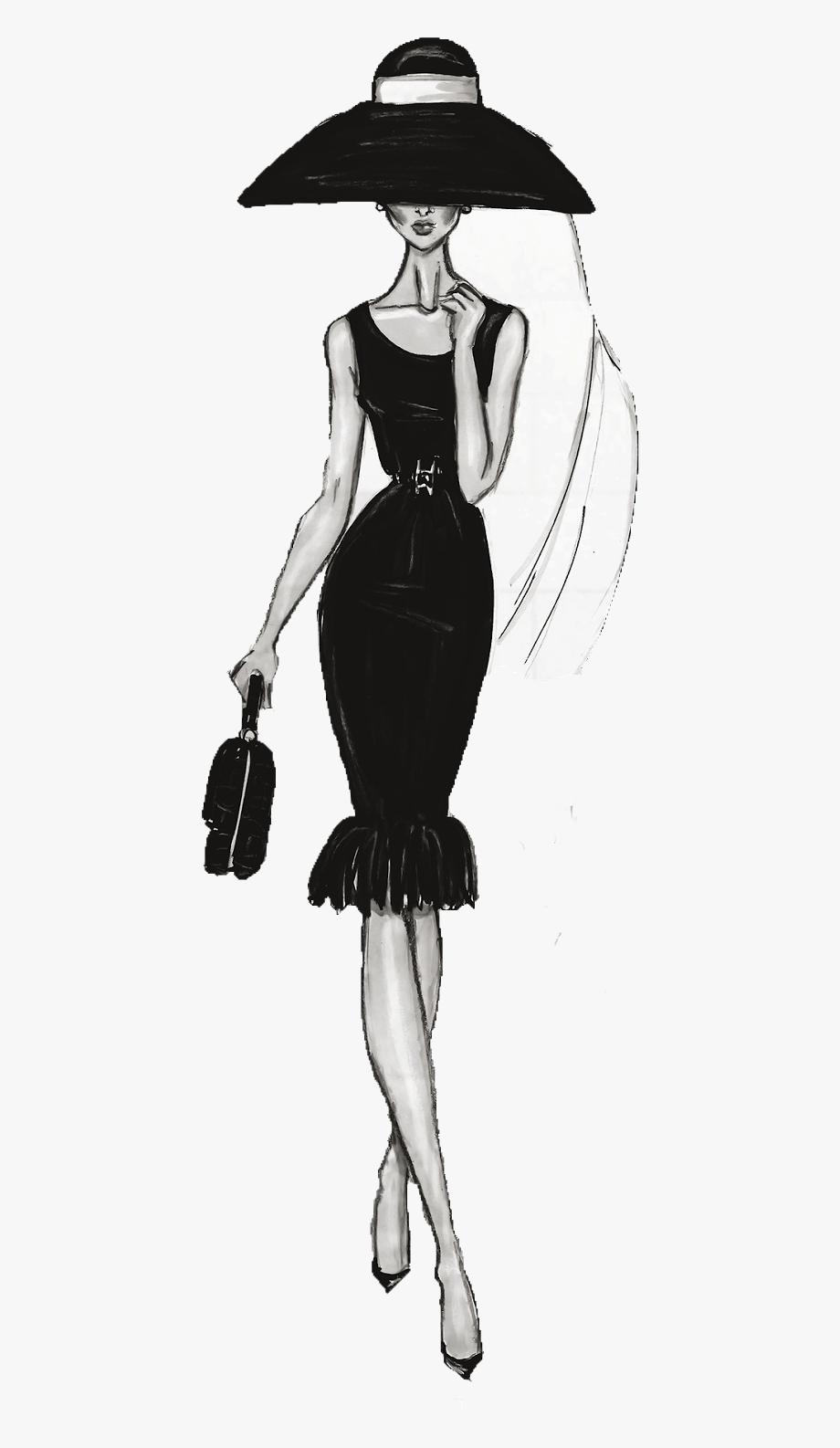 Fashion clipart fashion drawing. Female illustration chanel free