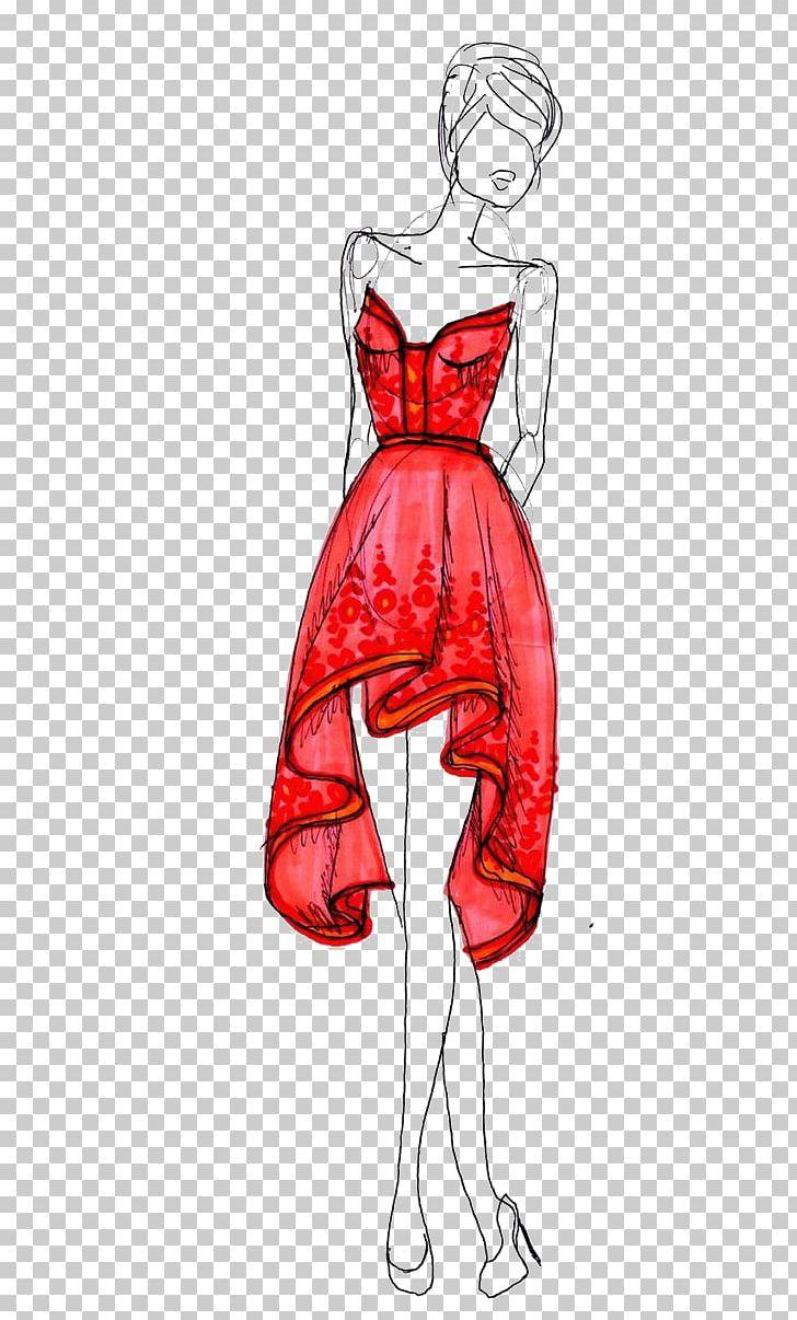 Illustration dress sketch png. Fashion clipart fashion drawing
