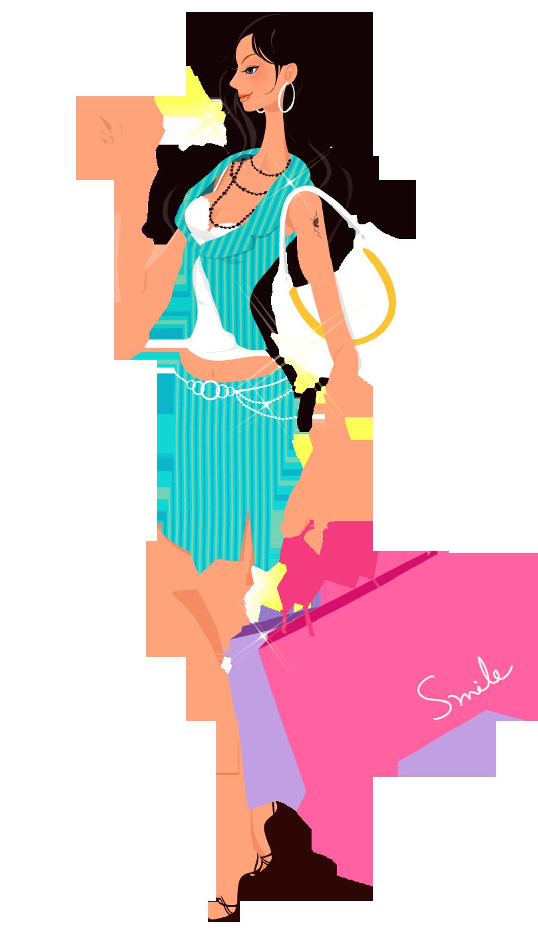 Woman clip art girl. Fashion clipart fashion person