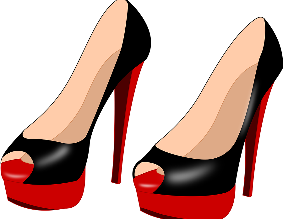 Red shoes and the. Fashion clipart fashion shoe