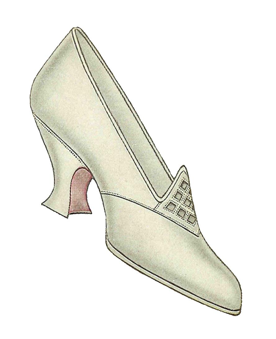 Antique images free clip. Glass clipart shoe