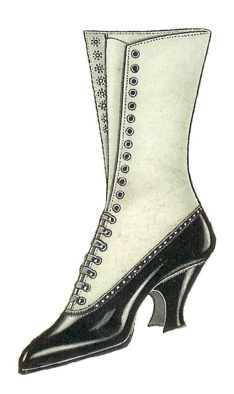 Fashion clipart fashion shoe. Free clip art vintage
