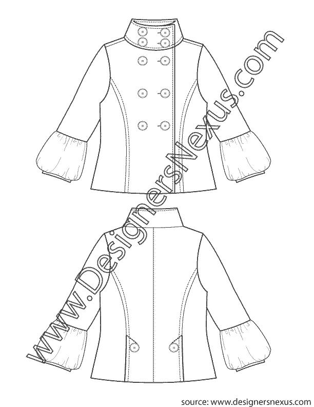 Flat v lantern sleeve. Fashion clipart fashion sketch