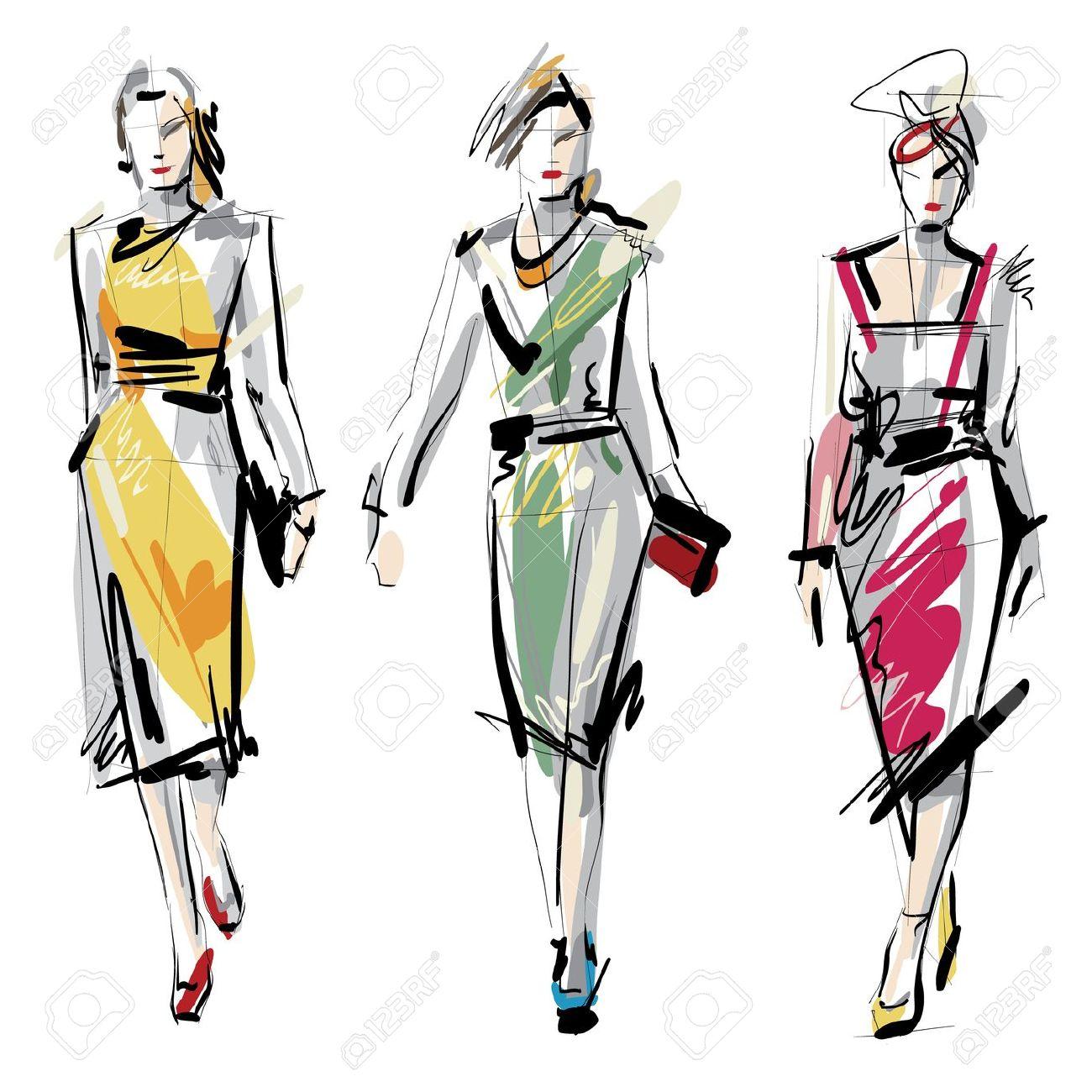 Models panda free . Fashion clipart fashion sketch