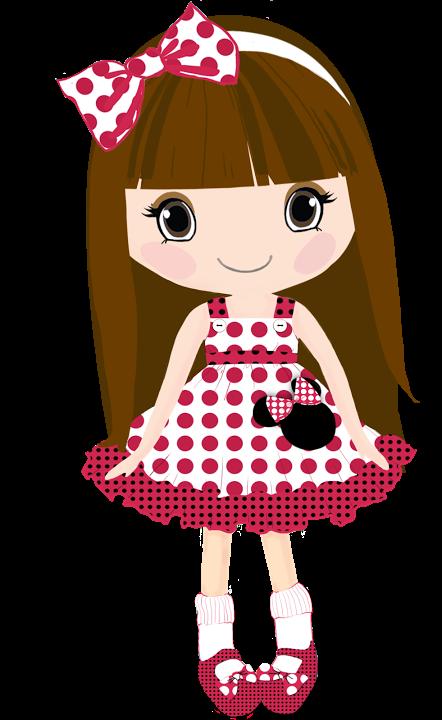 Fashion clipart girly dress. Bonecas os meninas mascotes