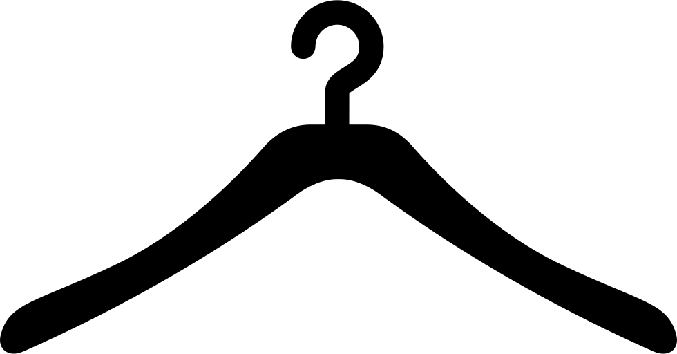 White clipart hanger. Clothes computer icons clip