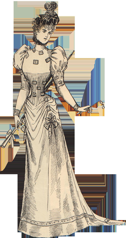Fashion clipart lady suit. Free scrapbook graphics vintage
