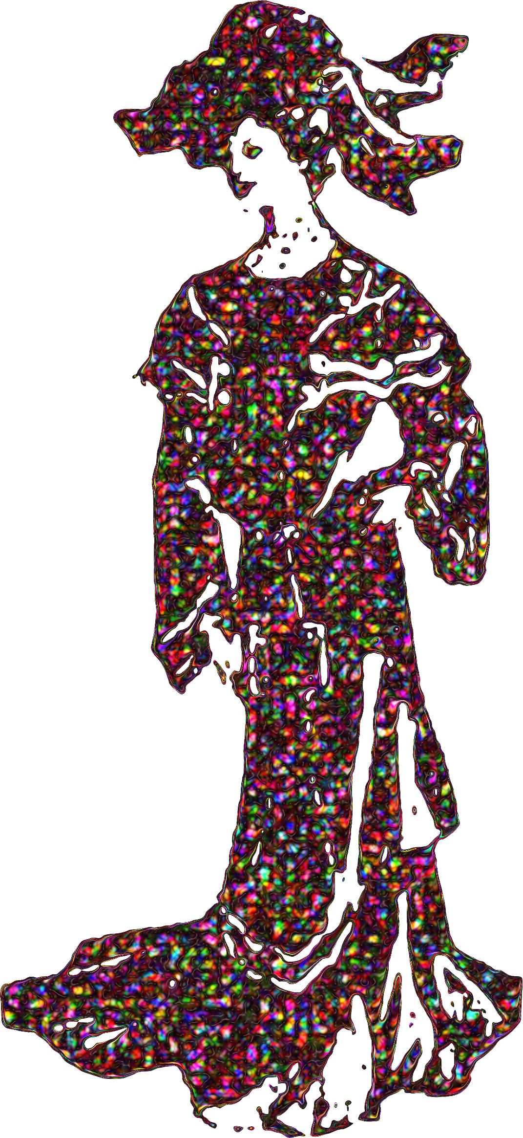 Polychromatic. Fashion clipart lady suit