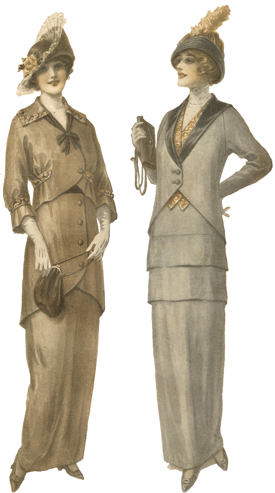 Fashion clipart lady suit. Antique graphics wednesday s
