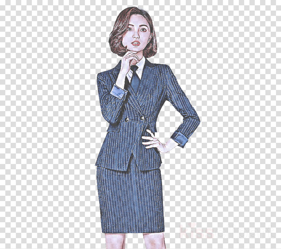 Fashion clipart lady suit. Clothing standing outerwear