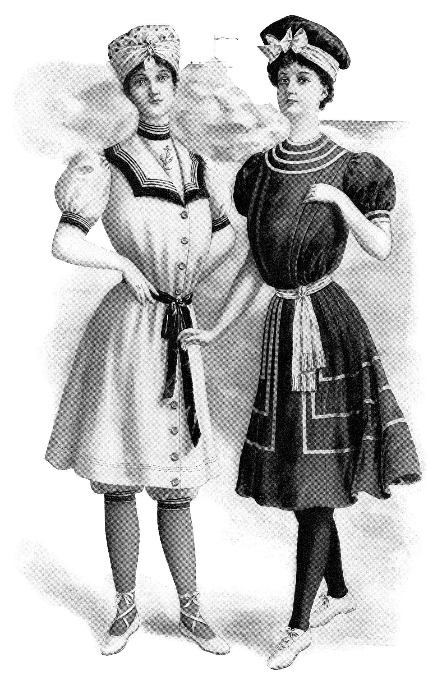Victorian illustration vintage ladies. Fashion clipart lady suit