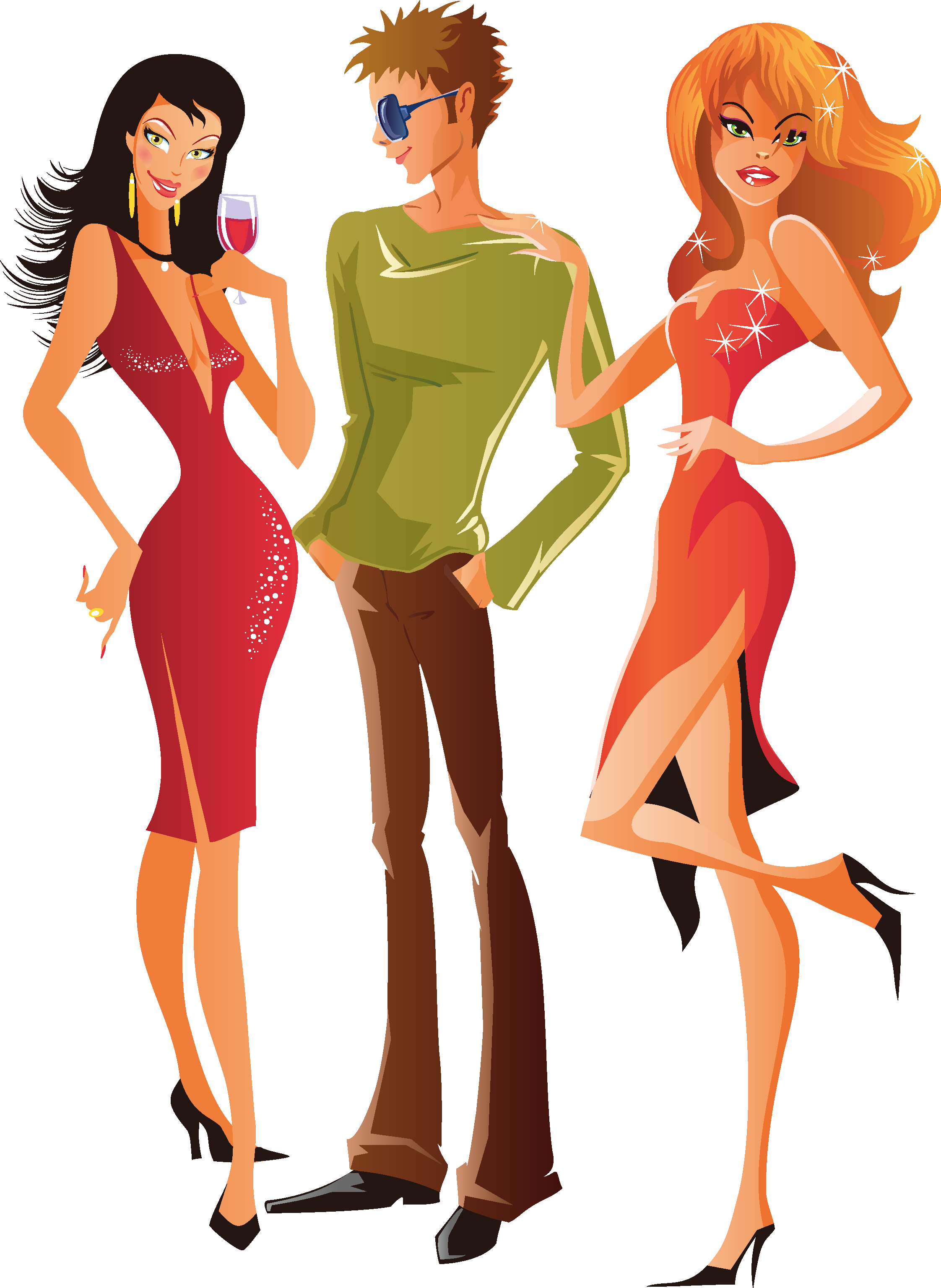 Clip art men and. Fashion clipart man woman