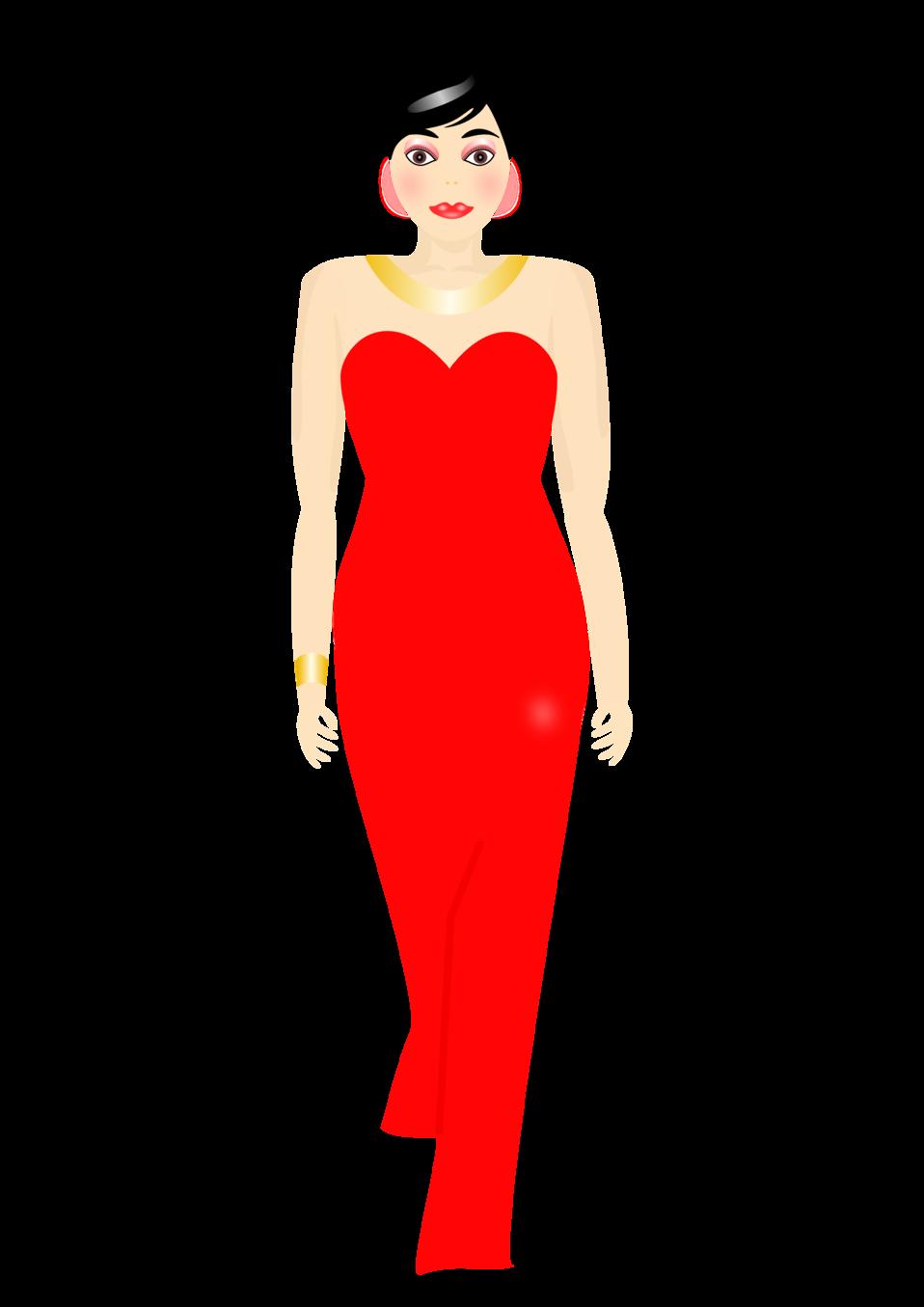 Fashion clipart model. Public domain clip art
