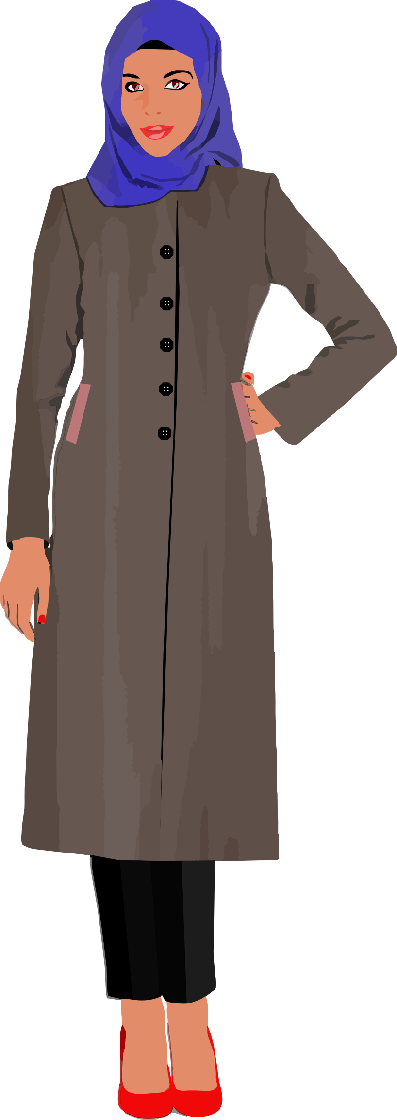 Muslim woman by gdj. Female clipart teacher