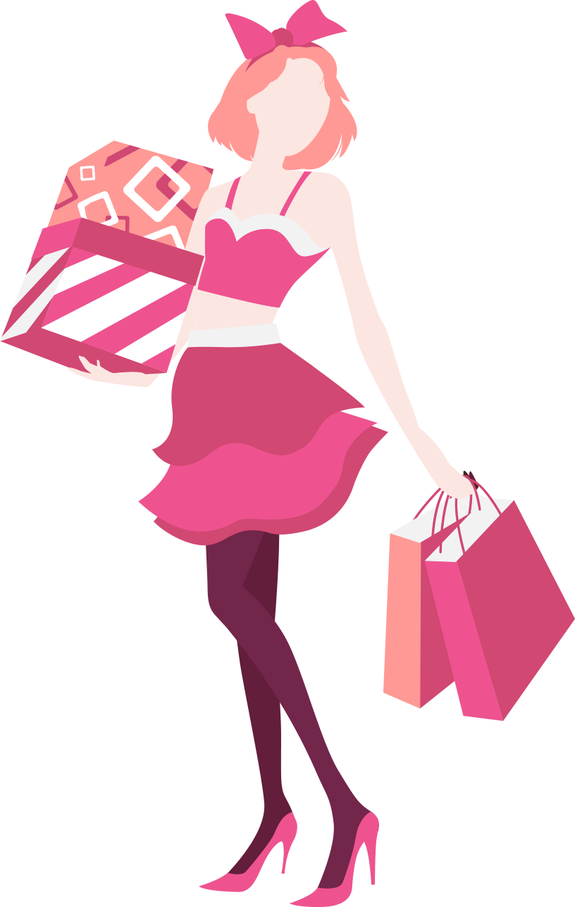 Fashion clipart pink fashion. Shopping apartment fashionable women
