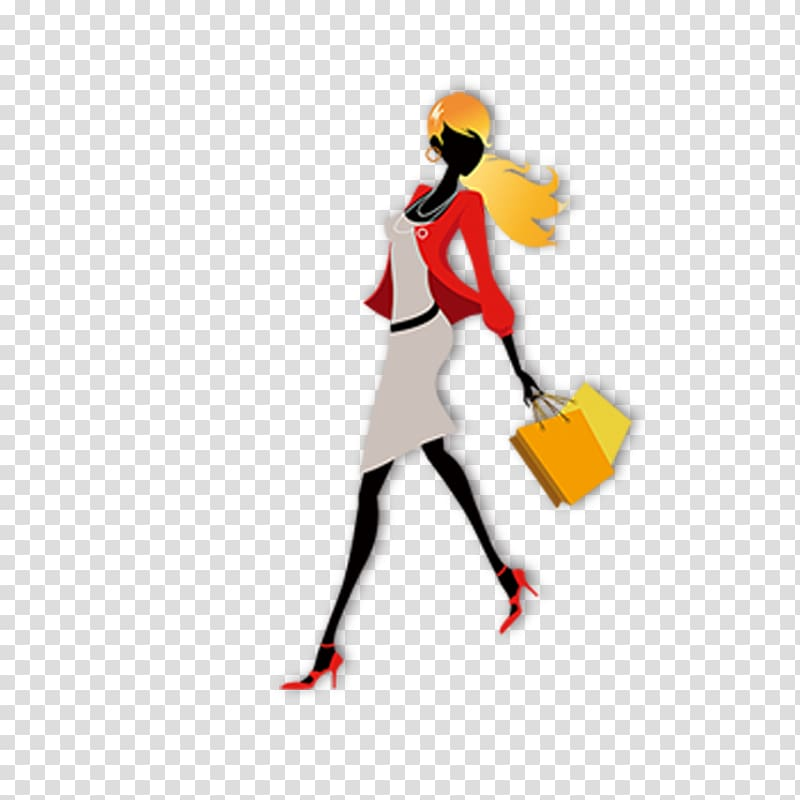 Design shopping transparent . Fashion clipart popular girl