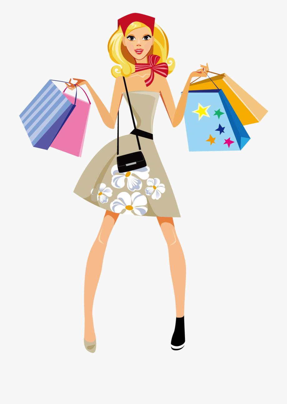 . Fashion clipart popular girl