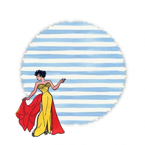 Fashion clipart public domain. Retro woman free stock