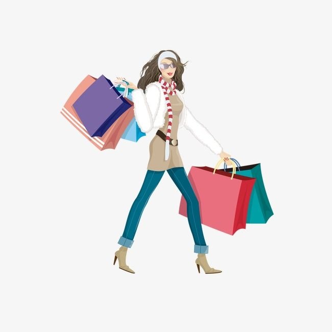 Fashion clipart shopper. Womens shopping image