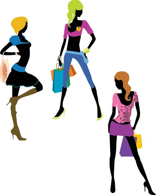 Free image on pixabay. Fashion clipart shopper