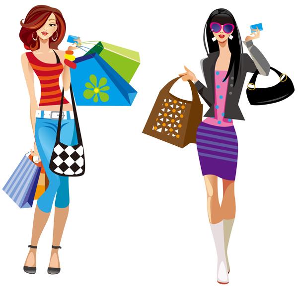 Fashion clipart shopper. Free cliparts download clip