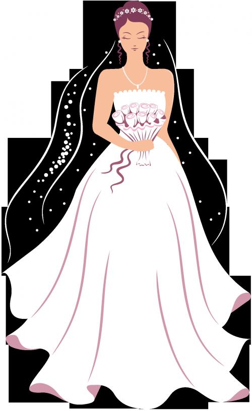 Bridal clipart wedding dress. Pin by a e