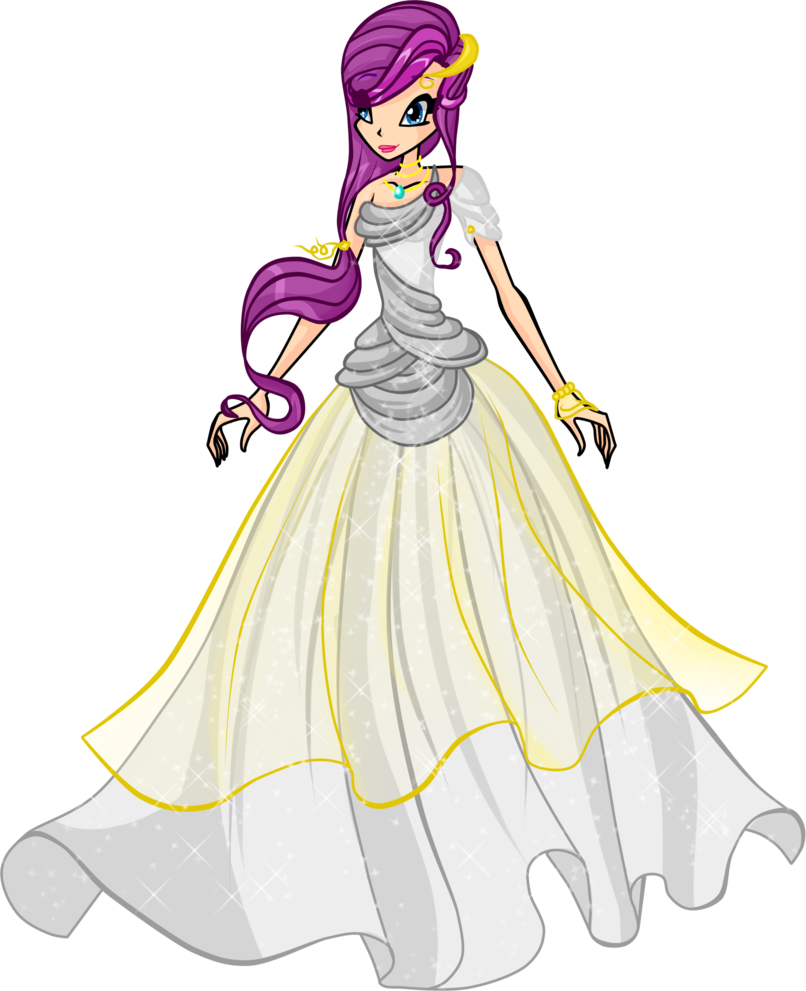 Fashion clipart wedding dress. Winx altair by dragonshinyflame