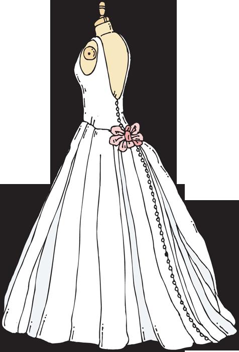 Web design development clip. Fashion clipart wedding dress