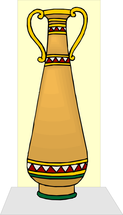 Fast clipart adjective. Latin ii gold vase