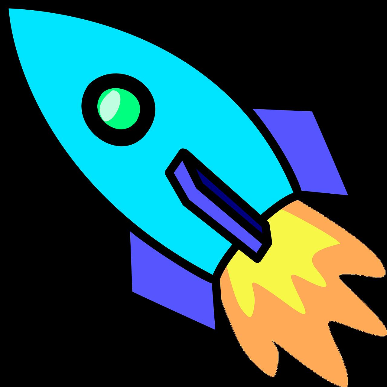 Rocket propulsion engine technol. Spaceship clipart space travel