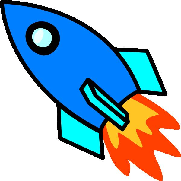 Blue clip art png. Clipart rocket
