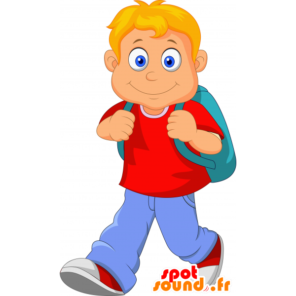 Fast clipart courier boy. Purchase mascot schoolboy blond