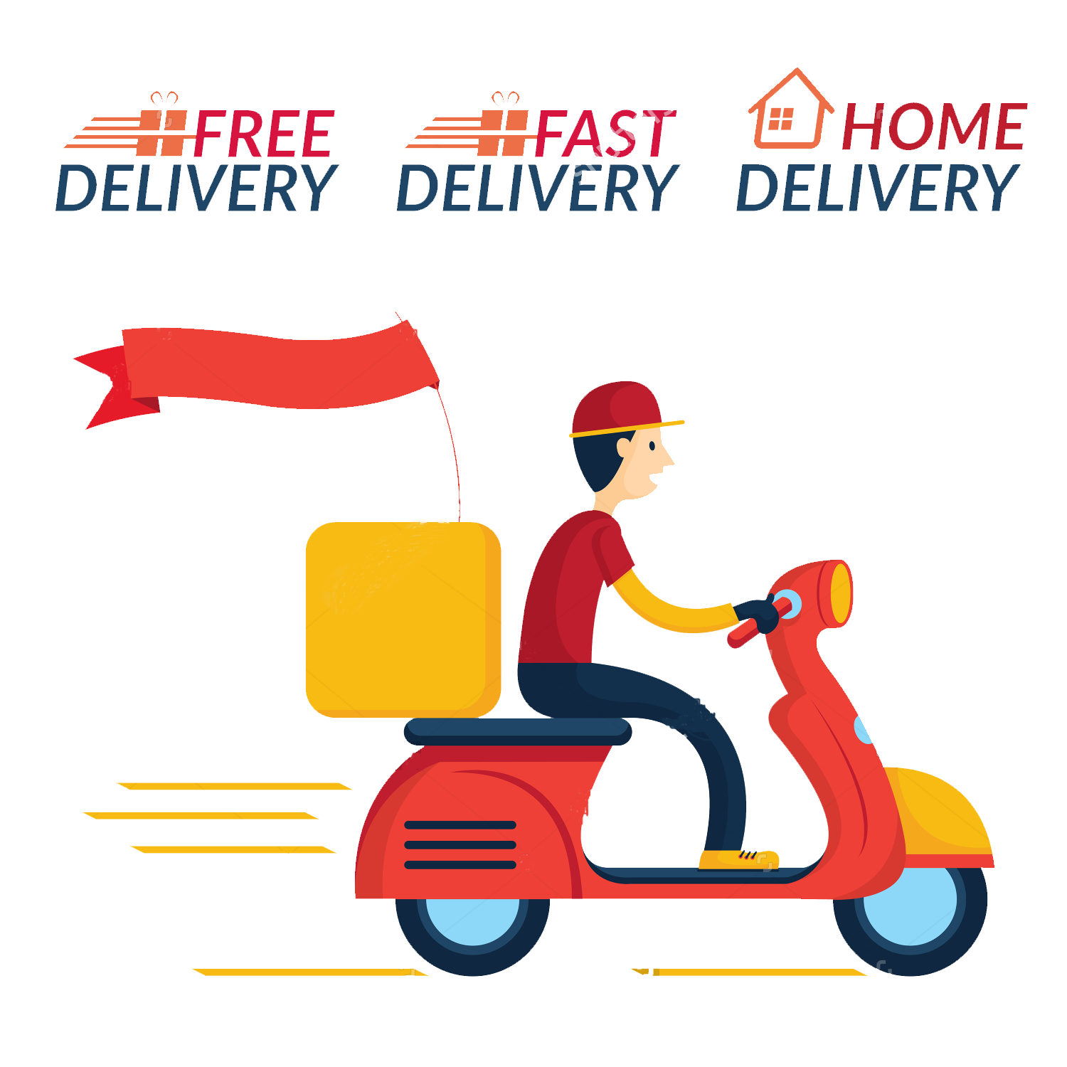 Scooter clipart delivery scooter. Pizza clip art transprent