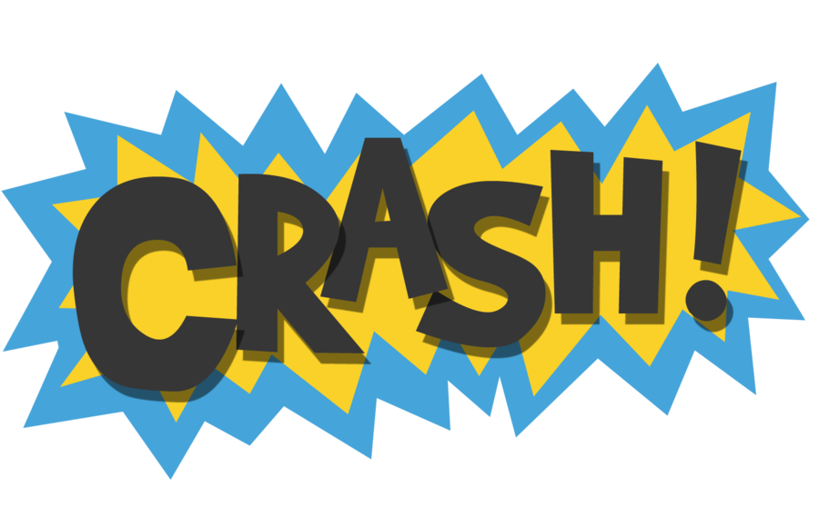 Scrapbook super hero crash. Words clipart superhero