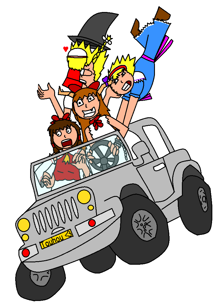 Touhou a by yukkurifan. Fast clipart crazy driver