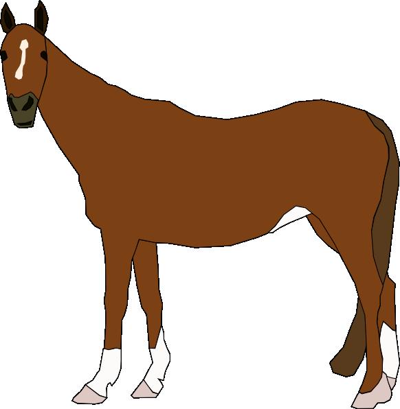 Horses clipart family. Staring horse clip art
